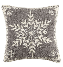 "Winter Snow Hook Pillow - 16"" x 16"""