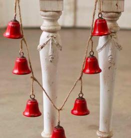 "Bella Bells Garland Red - 54"""