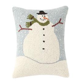 """Oversized Snowman Hook Pillow - 14"""" X  18"""""""