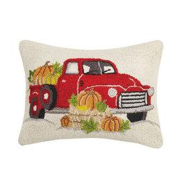"""Red Truck Pumpkin Hook Pillow - 14"""" x  20"""""""