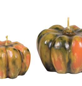 "Multi Colored Pumpkin Candle 3.25""  x 2.25"""