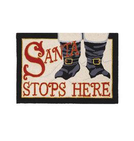 Santa Stops Here Hook Rug - 2' x 3'