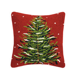 "Christmas Tree Hook Pillow - 16"" x 16"""