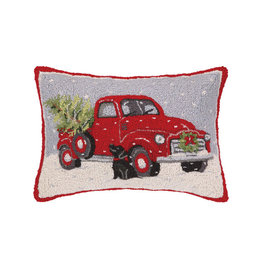 "Xmas Truck Hook Pillow - 16"" x 22"""