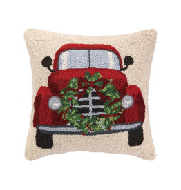 "Xmas Car Hook Pillow - 18"" x 18"""