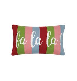"""Fa La La Crewel Pillow - 12"""" x 20"""""""