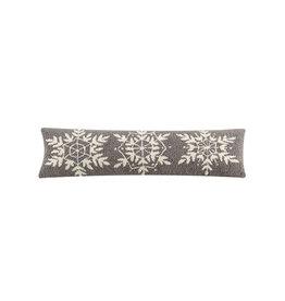 """Winter Snow Hook Pillow  - 8"""" x 24"""""""