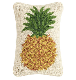 "Pineapple Hook Pillow - 8"" x 12"""