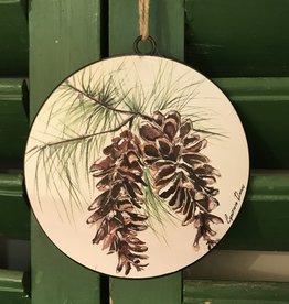 "Pine Cone Ornament - 6"" L X .75"" D X 6"" H"