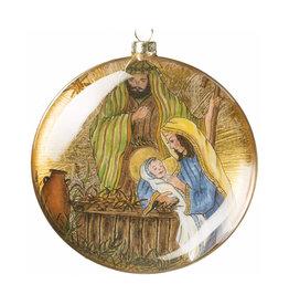 Ornament - Nativity Disc 5 Inch