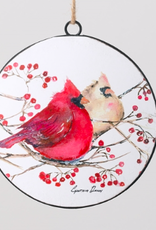 Cardinal Ornament Disc - 6""