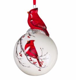"Cardinal Ball Ornament - 4.5"""