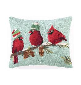 """Pillow - Red Birds - 20"""" Oblong"""