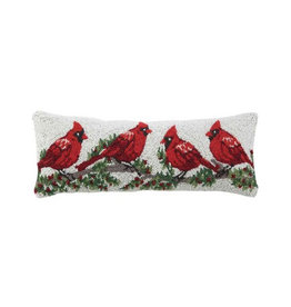"""Pillow - Cardinal Winterberry  - 24"""" Oblong"""