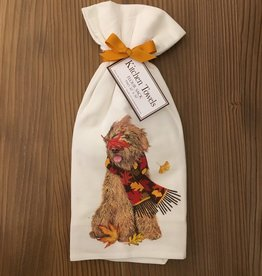 Doodle Leaves Scarf Towel - Set of 2
