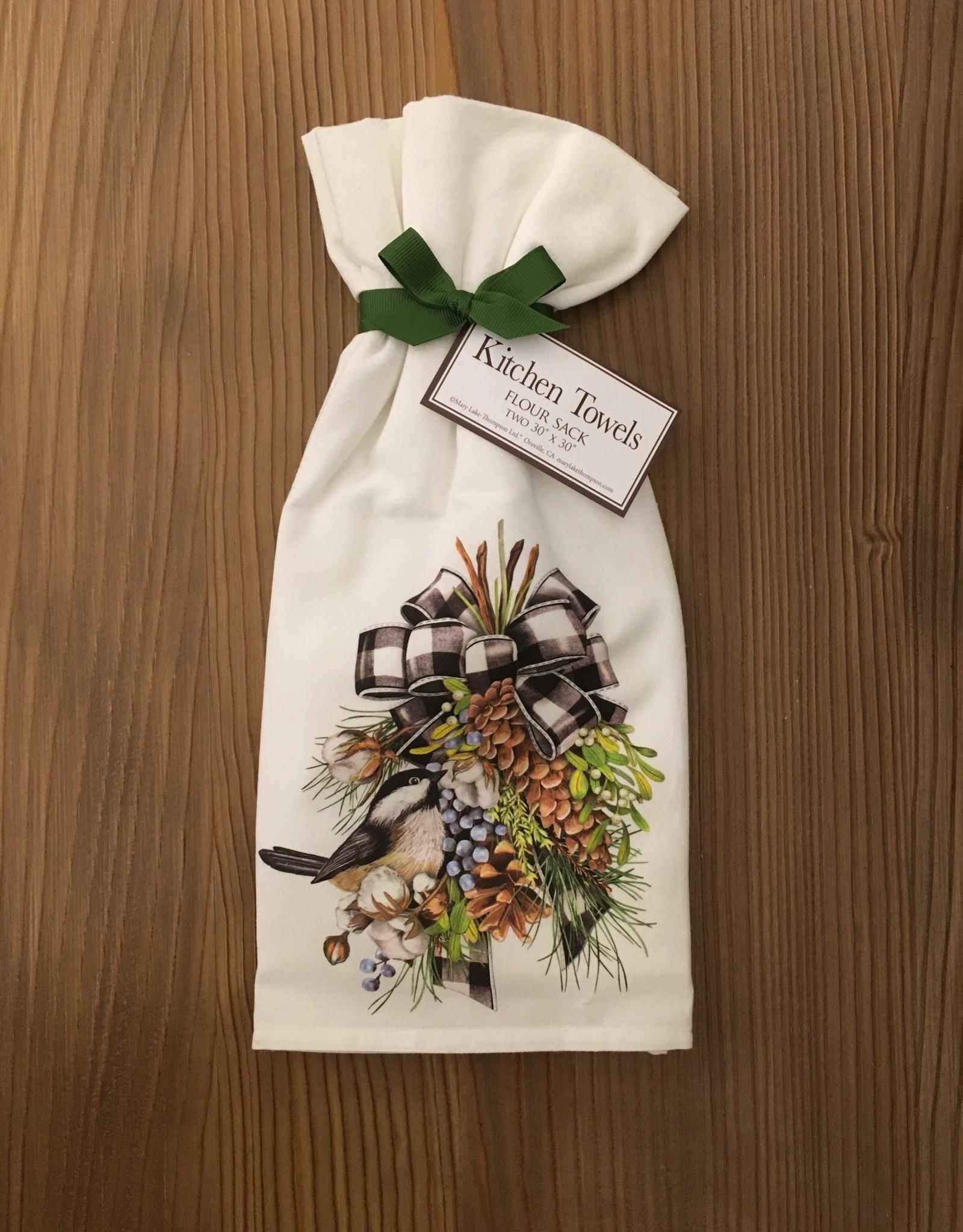 Cotton Pine Swag Towel - Set of 2