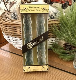 Tree Candle - 12 Inch Green Frost