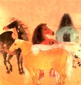 """Chevaux Greeting Card - 6"""" X 6"""""""