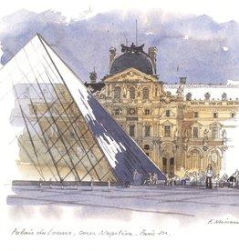"""Palais du Louvre, Paris - 6"""" x 6"""""""