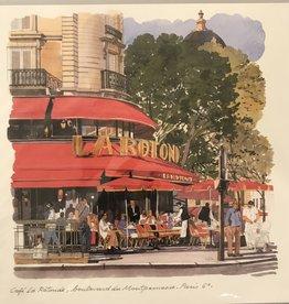Cafe La Rotonde, Boulevard  du Montparnasse, Paris