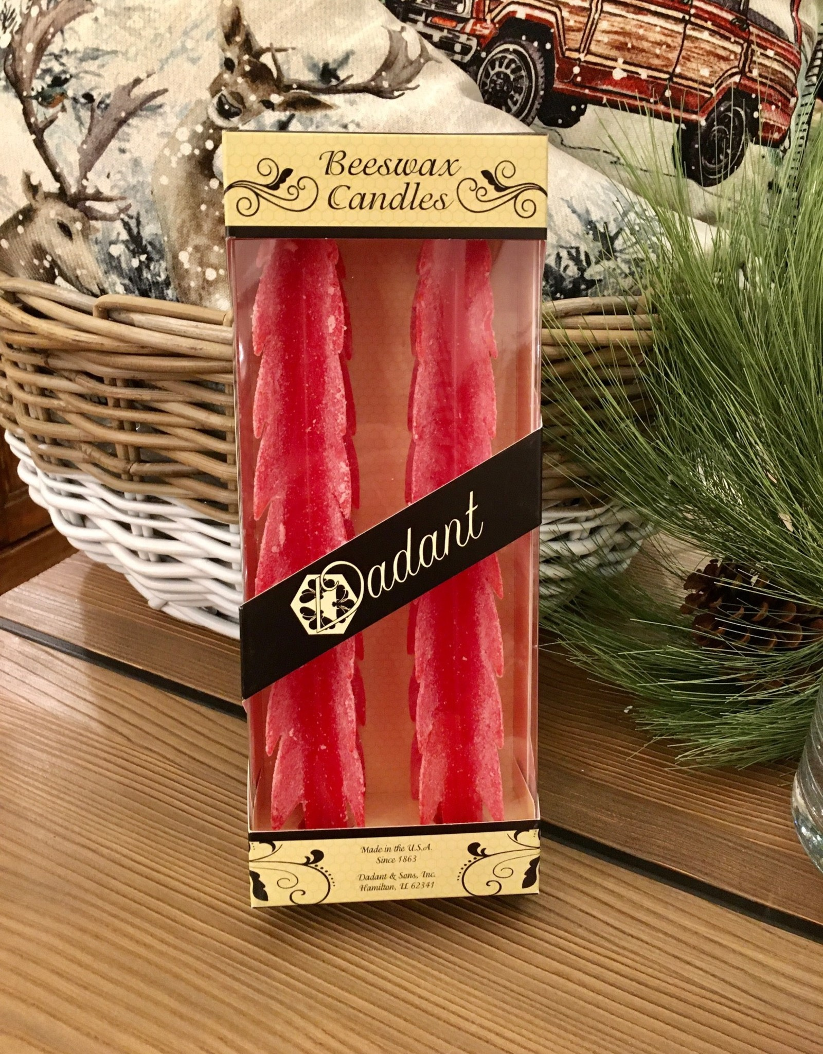 Tree Candle - 12 Inch Red Frost