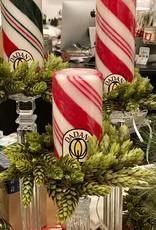 "Candy Cane Pillar Candle - 3"" x 6"""