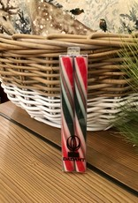 Candle - Trad. Holiday Stripe 8 Inch