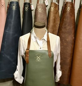 Vintage leather apron (classic) - Green