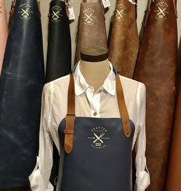 Vintage leather apron (classic) -  Light Blue