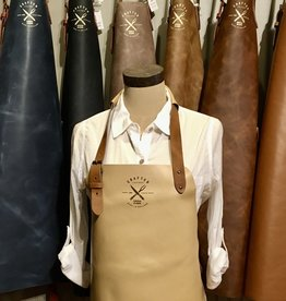 Vintage leather apron (classic) - Beige