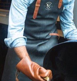 XL Blue Vintage leather apron (XL Waist Strap)