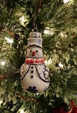 Snowman Ornament - Snowflake (A991A)