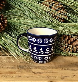 Mug - Blue Christmas Trees (243A)