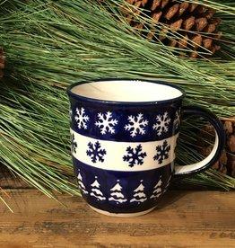 Mug - Snowflakes w/White Trees