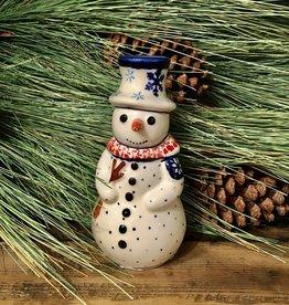 Snowman Statuette - Snowflake w/Red (A991A)