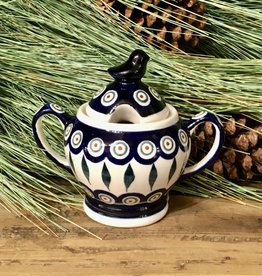 Sugar Bowl - Peacock Pattern - Bird on Lid - (D56) V:0,25l