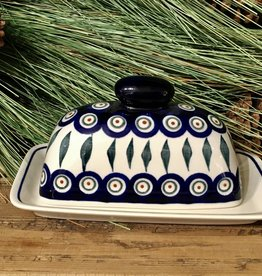 Butter dish - Peacock Pattern (D56) - Single Stick