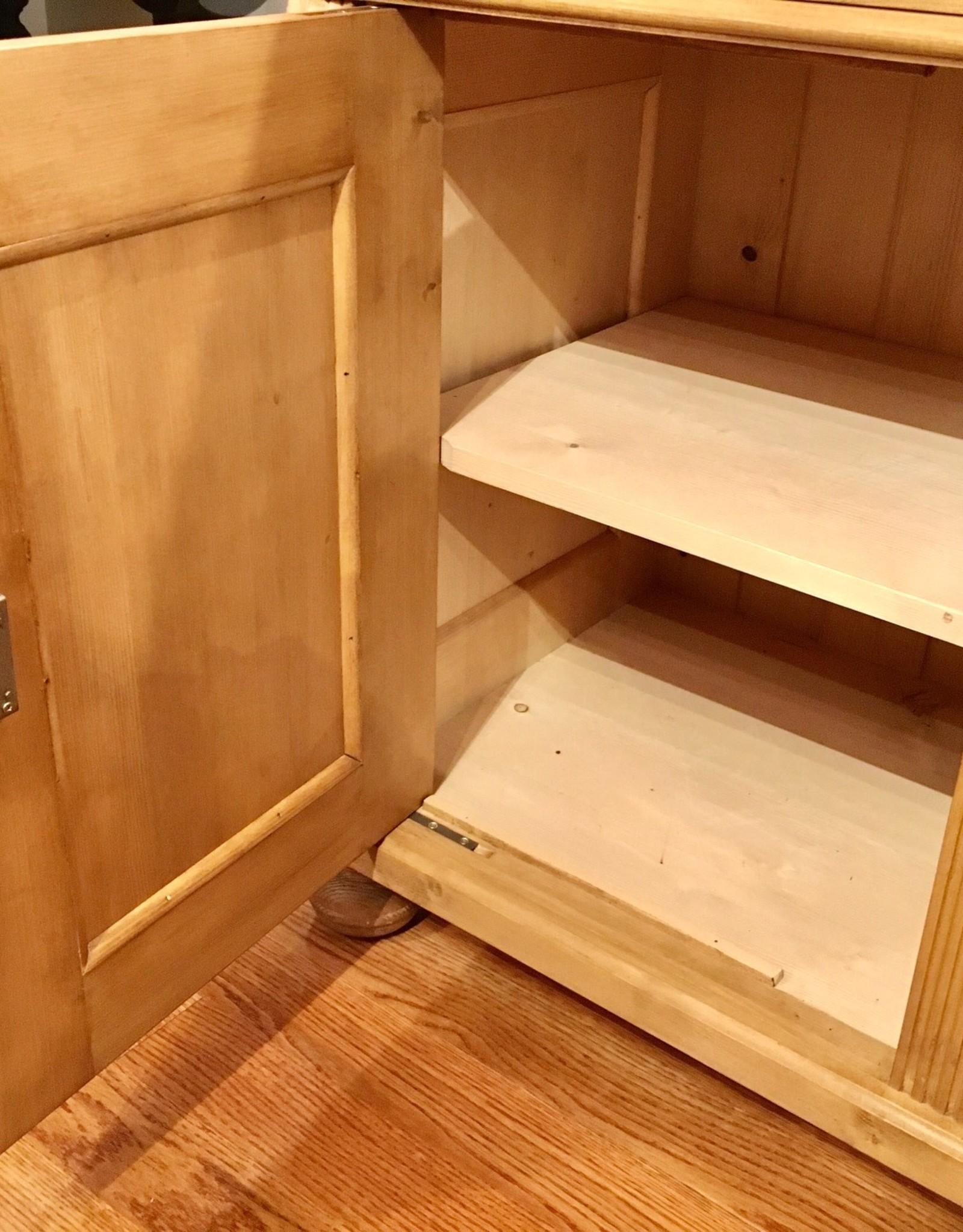 """3 Door Pine Buffet 60""""x20.5""""x35.5"""" Distress' Standard Wax"""