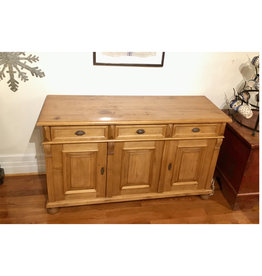 "3 Door Pine Buffet 60""x20.5""x35.5"" Distress' Standard Wax"