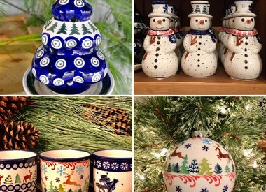 Polish Pottery Holiday / Ornaments