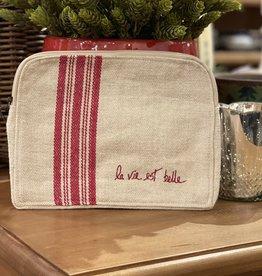 """Cosmetic Bag - La Vie Est Belle (Large) 11"""" x 8 1/2"""""""