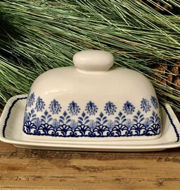 Butter Dish - Blue Garden - Single Stick