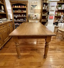 "6 ft. Table - Turned Legs, 31.5""x72""x39.5"", Distressed Natural Finish"