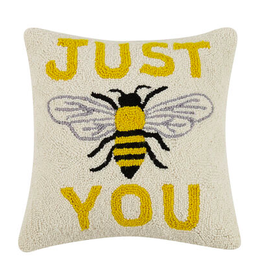 "JUST BEE YOU Hook Pillow 16"" X 16"""