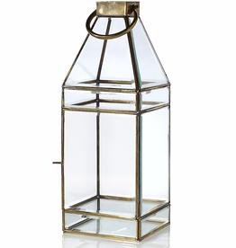 """Glass Lantern 6.5""""x 6.5""""x 18"""""""