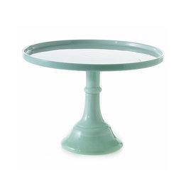 "Zelana Cake Plate 10""x 7"" - Green"