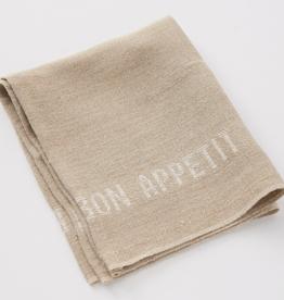 Charvet Editions - Bon Appetit  Napkin/Placemat - Natural/White
