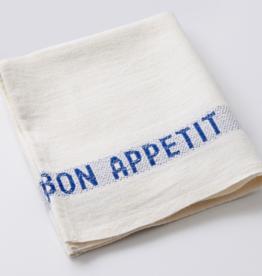 """Charvet Editions - Napkin/Placemat Bon Appetit White/Blue 17"""" x 13"""""""