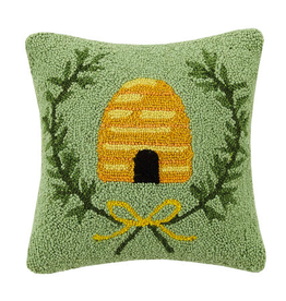 "Beehive Hook Pillow - 14"" x 14"""