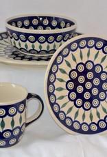 Polish Pottery Mug - Peacock Pattern